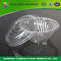 OEM service supply type biodegradable portable clear plastic bowls with lids