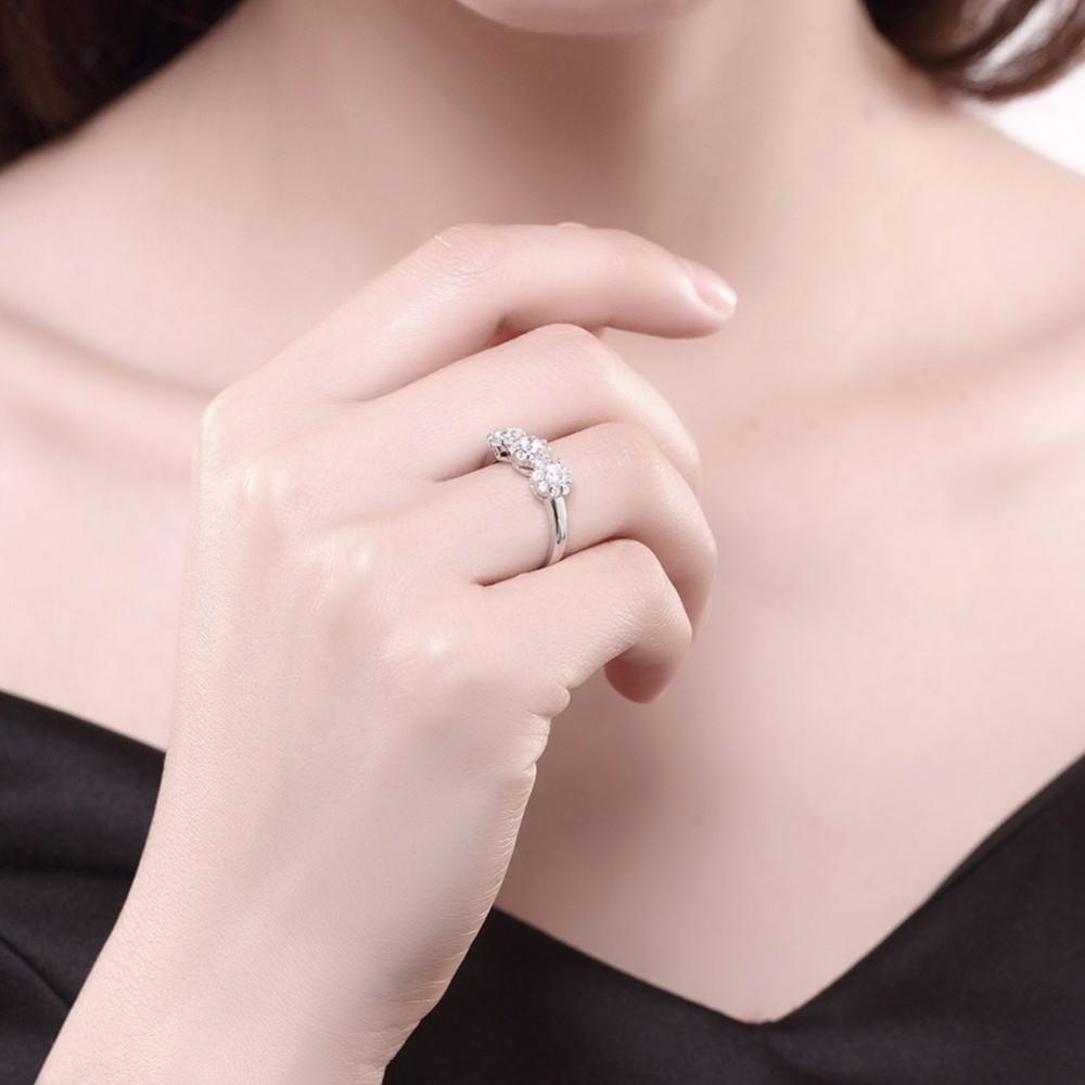 Sjsvr047 Wholesale 925 Silver China Cz Ring Three Stones 925 ...