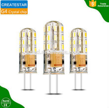 Super bright 360 degree silica gel 3W 12V g4 led with power lumen
