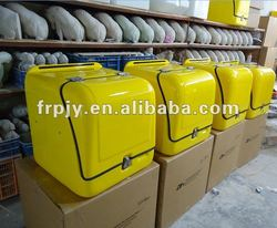 Motorcycle Delivery Box , with LED Stop Light, Water-proof, FRP Duarable Material, JYB-03, Old Model: BT-03