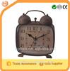 square rusty decorative table clocks
