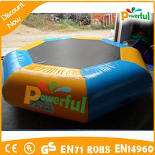 Summer funny inflatable water trampoline,inflatable water bouncer,inflatable water jumping bed