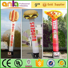 Cheap sky dancer type outdoor hamburger inflatable ( pizza,hamburger, promotional model)