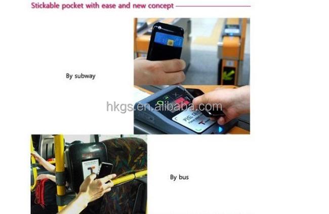 Qr Code personalizado titular do cartão de Silicone ID adesivo titular do cartão