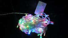 LED Christmas Lights 100M 600Leds AC220V 7colors RGB white Led String light For Christmas Tree light 12v led c7 & c9 led bulbs