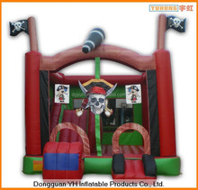 PVC coated polyester inflatable kids air pirate jumper