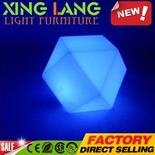 LED decorative light Remote control colorful plastic waterproof lamp polytope Party led table decorations