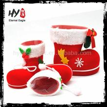 manufacture candy santa claus boots, decoration christmas boots, santa boot decoration