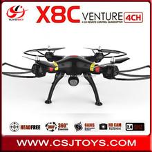 Newest Syma x8c Venture 2.4G 4CH universal remote control Uav Professional Big Drones With Live camera