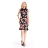 Flowers Printed Chinese Style Slim Fit Traditional Dress