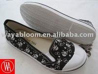 ladies fashion injection canvas footwear