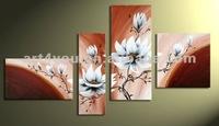 oil flower painting in vases