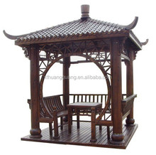 deluxe oriental wood/plastic garden summer house/pavilion