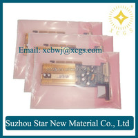 PE esd heat sealed zipper bag for electronic component