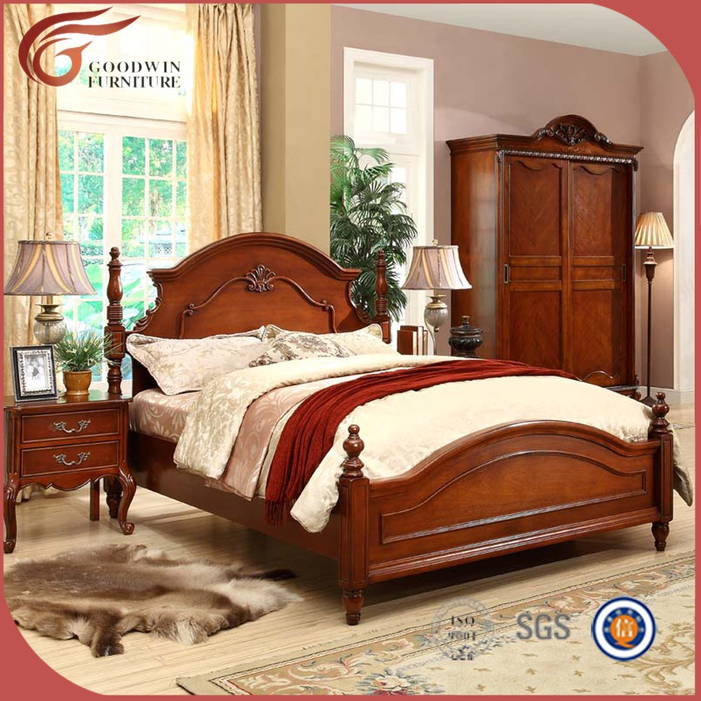 Hand painted antique bedroom sets natural wood bedroom for Antique bedroom furniture