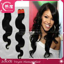 Natural brown body wave hair cheap human hair weave one donor Brazilian remy hair extensions