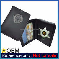 Wholesale Customized High Quality Engraved Leather ID Badge Wallets
