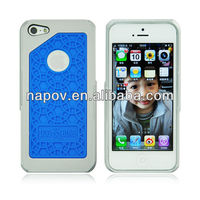 Napov - Dog & Bone Lots Cheap Sole Blue Silicon Pattern Mobile Cases for iphone 5