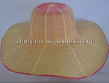 2015 wholesale machine made women's nature floppy paper straw hat