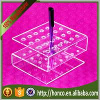 24 bins Acrylic Eyebrow Pencil Display Pen Holder Rack,Clear Colur