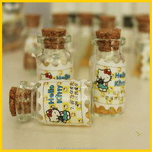 50ml clear glass empty bottles with corks Perfect for original wedding favour or gift