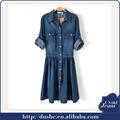 U'sake çin üretici dongguan 100% pamuklu bayan tasarımcı denim jean elbise s120301