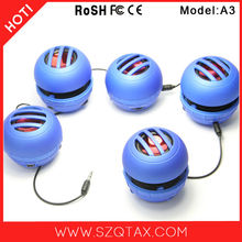 3W Mini Portable Capsule Speaker with Rechargeable Battery and Enhanced Bass+ Resonator