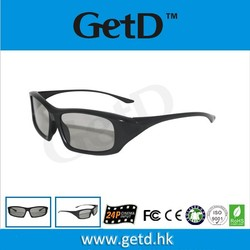 Recycle use cinema polarized 3D glasses CP400G64R