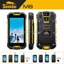 SNOPOW IP68 waterproof walkie talkie 5km quad core android 4.4 NFC wireless charger android 4.4.2 gps navigator