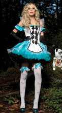Free Shipping alice in the wonderland Cosplay Costume Sexy Lingerie Set Halloween Plus Size Erotic Costumes Cosplay