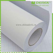 PVC Carbon Fiber Vinyl white with air free bubbles/car stickers