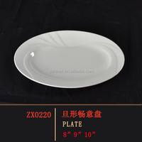 factory promotion price high quality melamine plate oval white dinner plate