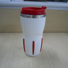 2015 Hot New Product,Food Safe Double Wall SS Travel Mug,Made In China Quick Eelivery,Durable,Economic,Fastness,Rubber Strip