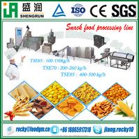 sweet corn flour puffed snacks food making production equipment