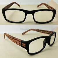 2014 customized fashion wood color frames reading glasses