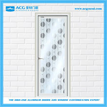 Easy installation glass painting soundproof office swing half door