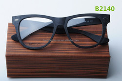 China wholesale fashion acetate optical frames models wood imitation frames and temples with custom laser logo