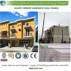 2015 Daquan Precast prefabricated houses with eps sandwich board