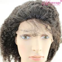 Homeage crazy popular brazilian afro kinky human hair wigs for black women