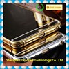 2015 New Arrived acrylic back + stainless steel bumper cell phone case with mirror for iphone 6