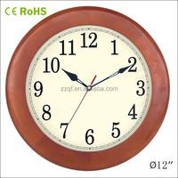 12 inch wall hanging promotional wooden digital clock (12W28LR-185)