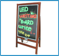 Electronic 2014 hot new products IPX6 level illuminated magnetic tempered glass outdoor restaurant led menu writing board
