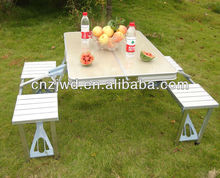 mdf superior de aluminio plegable mesa de picnic
