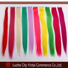 New arrival hot product tiaras colorful synthetic PU tape hair extension wholesale price