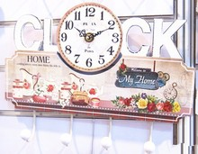 Antique mdf wall clock China ,retro vintage style MDF clock wall