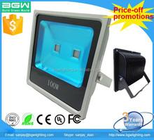UL IP65 Aluminum heat sink 6500K 100W LED flood light with Bridgelux chip