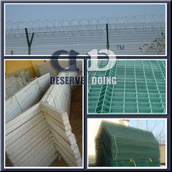 Concrete fence posts/Vinyl coated/coating Airport fence