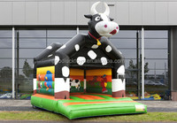 inflatable cow boucer/Standard cow bouncy castle for sale/ jumping trampoline inflatable bungee baby bouncer