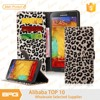 BRG Leopard PU Leather Wallet With Credit Card Holder For Samsung S6 Edge Plus Mobile Phone Cover
