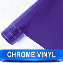 Guangzhou Eagle Carbon Fiber Suppliers Import Stretching purple chrome film for car wrap